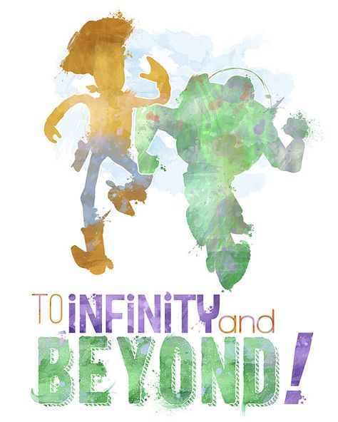 To Infinity and Beyond 8x10 Poster DIGITAL DOWNLOAD /