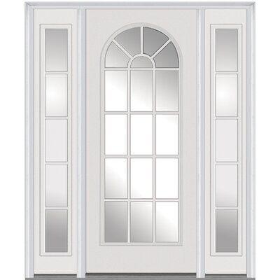 Verona Home Design Smooth Prefinished Fiberglass Prehung Front Entry Door Wayfair In 2020 Mmi Door Front Entry Doors Steel Doors Exterior