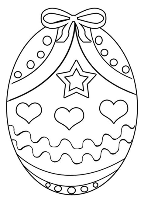 Free Online Easter Egg 4 Colouring Page - Kids Activity Sheets: Easter Colouring Pages