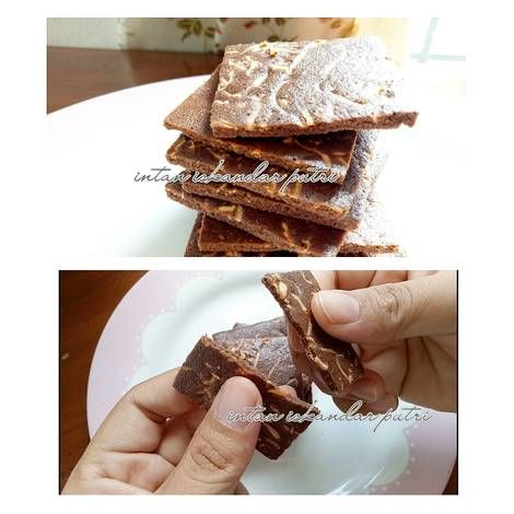 Resep Keripik Brownies Beng Beng Drink Brownies Chip Oleh Intan Iskandar Putri Resep Keripik Makanan Resep
