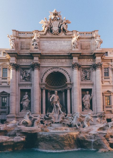 Trevi Fountain, Rome (by Sergey Mkrtchyan) (All things Europe) Baroque Architecture, Beautiful Architecture, Aesthetic Backgrounds, Aesthetic Wallpapers, The Places Youll Go, Places To Visit, Trevi Fountain Rome, Travel Aesthetic, Aesthetic Pictures
