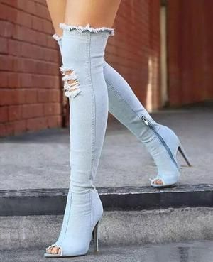 45346135f64 Ankle Flat Suede Lace Up Shoes in 2019   Shoes   Denim heels, High ...