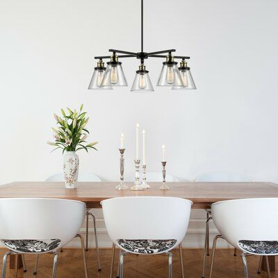 Trent Austin Design Abelia 5 Light Shaded Classic Traditional Chandelier Wayfair In 2020 Farmhouse Dining Room Lighting Dining Room Lighting Chandelier