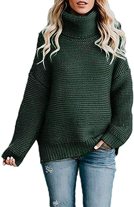 Womens Casual Long Sleeve Jumper Turtleneck Sweaters Coat Blouse Tops
