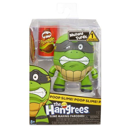 Multicolor Collectible Parody Figure with Slime MGA Entertainment The Hangrees Turd Titans Go