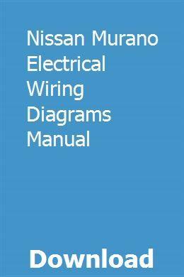 Nissan Murano Wiring Diagrams