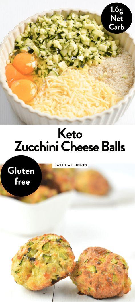 Cheesy Zucchini Balls easy Keto Snacks Sweetashoney - Keto for beginners Keto Foods, Best Diet Foods, Keto Snacks, Zucchini Cheese, Keto Cheese, Aperitivos Keto, Cena Keto, Low Glycemic Diet, Diet Recipes