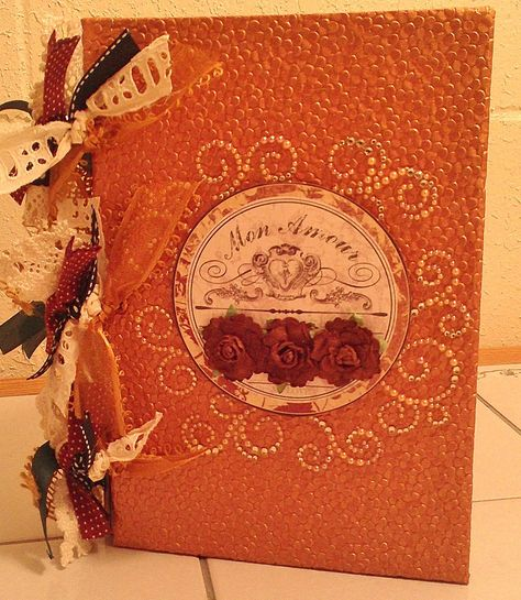A DIY smash/stash book in fall colors with ring binding I made for my mom. Thanks for watching!