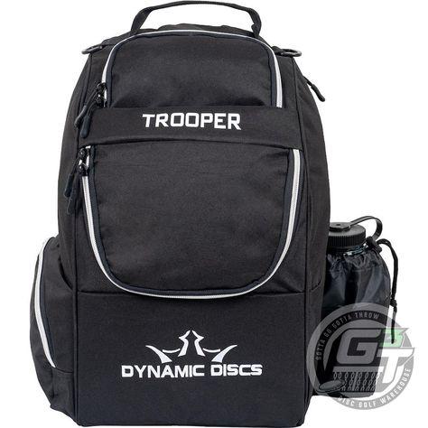 Dynamic Discs Trooper V2 Backpack Disc Golf Bag - Black / Black
