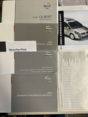 2005 Nissan Quest Owners Manual 7719 76 Ebay Nissan Quest Owners Manuals Nissan
