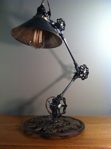 Vintage Industrial Desk Lamp Industrial Home Decor Project Idea Project Difficulty Vintage Industrial Desk Vintage Industrial Lighting Industrial Desk Lamp