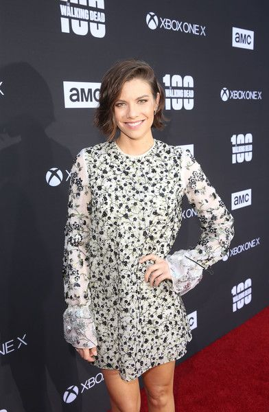 Lauren Cohan arrives at 'The Walking Dead' 100th Episode Premiere and Party.