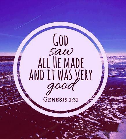 Genesis 1:31   Senior quotes, Genesis 1, Genesis