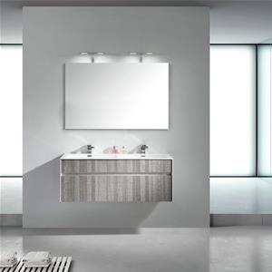 Mobile Bagno Lavabo Doppio 120 Cm Sospeso Moderno Con Cassettiera