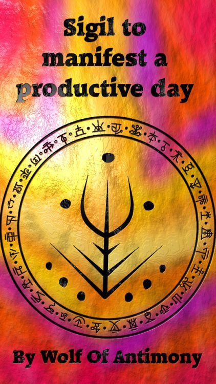 Sigil to manifest a productive day | Elements | Sigil magic
