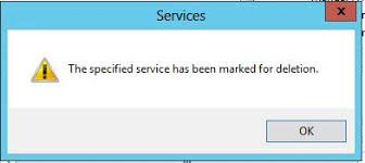 Methods To Fix Solve The Specified Service Has Been Marked For Deletion Error Solving Service Marked