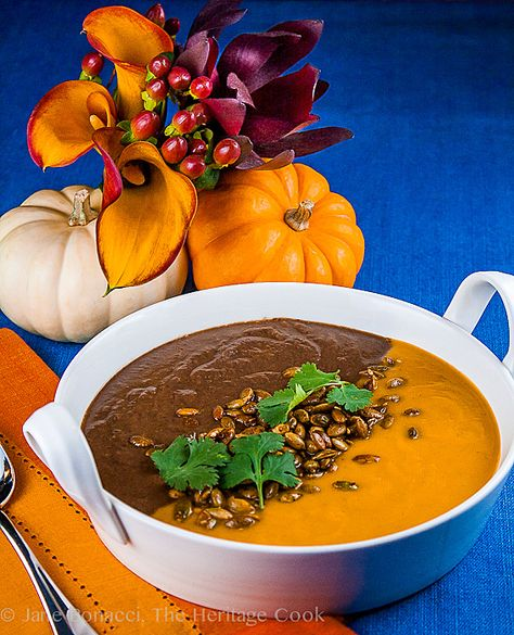 Jack O'Lantern Soup; Butternut Squash-Carrot Soup & Spicy Black Bean Soup