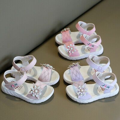 Details about  /Girl Sandals Summer Butterfly For Girls Glitter Princess Party Wedding Shoes