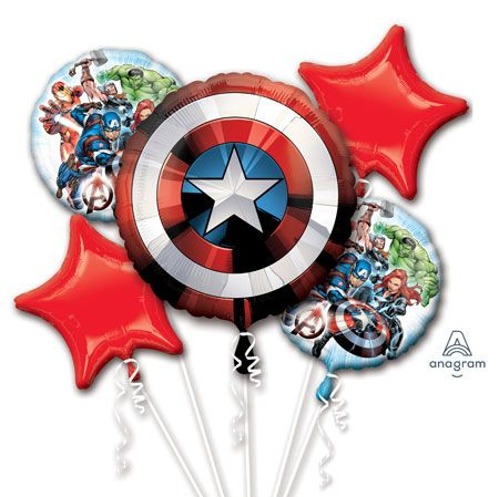 """18/"""" FOIL BALLOON HELIUM SUPER HEROES MARVEL AVENGERS AIR NEW IN PACK"""