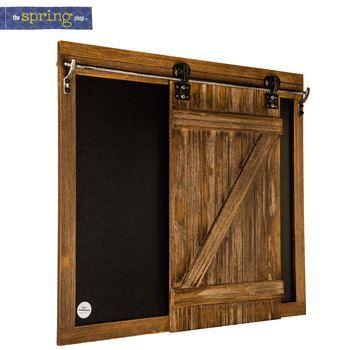 Sliding Barn Door Chalkboard Wood Wall Decor Wood Doors Interior