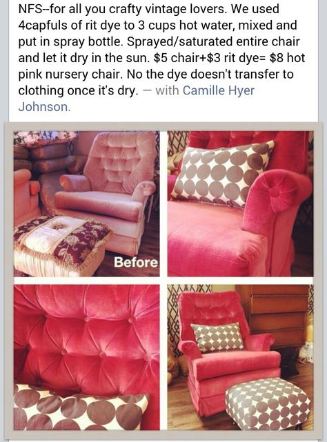 Dyeing furniture with Rit Dye, tutorial, Dye upholstered furniture ...