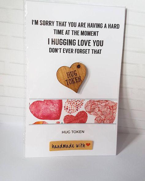 Hug Token Cheer Up Friendship Girlfriend Boyfriend Depression Sorry Gift  sc 1 th 251 & List of Pinterest sorry gifts for him pictures u0026 Pinterest sorry ...