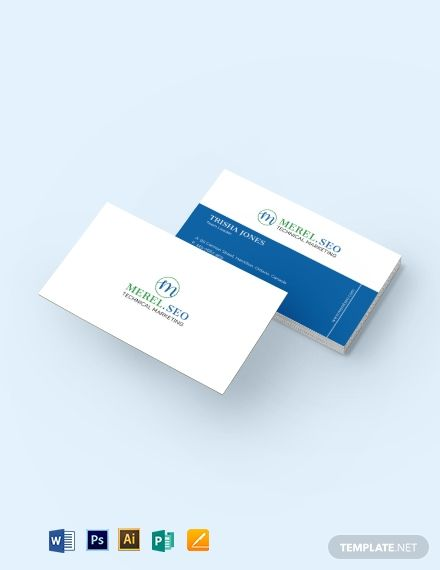 Seo Company Business Card Template Word Psd Apple Pages Illustrator Publisher Company Business Cards Business Card Template Word Business Card Template