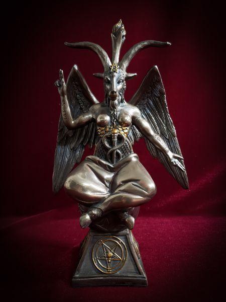 "Baphomet Head Lucifer Demon Goat of Mendes Pagan Occult Door Knocker 9/"" Tall"