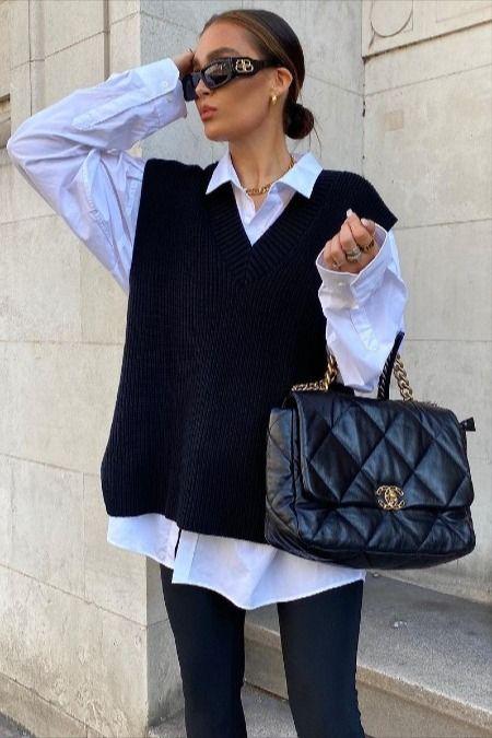 طرق ارتداء وتنسيق الفيست الصوف مع ملابسك في شتاء2021 Preppy Summer Outfits Sweater Vest Sweater Vest Women