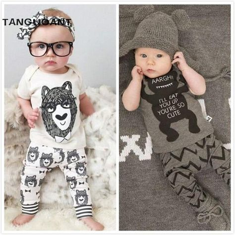f7d2ddd2f6aa Baby Boy Clothes Little Man Romper Long Pants Legging Playsuit ...