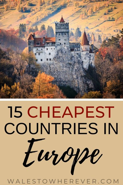 Who said travelling Europe has to be expensive? It is entirely possible to travel Europe on a budget, and these 15 countries are as amazing as they are cheap. Check them out and start planning your budget Europe trip