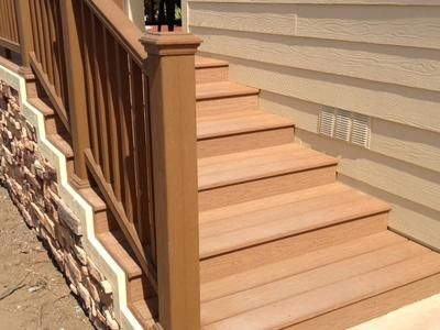Choosing The Right Mobile Home Stairs: Outdoor Mobile Home Made Wood U2013  MzVirgo | Steps, Deck | Pinterest | Woods, Stair Kits And Decking