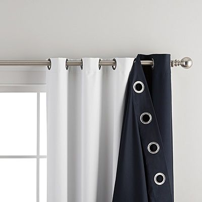 Home Expressions 100 Blackout Grommet Top Curtain Liner Shtory