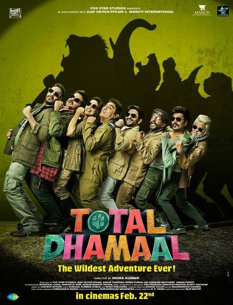 And Here Comes The First Look Poster Of Totaldhamaal Trailer On 21 Jan 2019 22 Feb 2019 Release Ajaydev Full Movies Download New Hindi Movie Full Movies