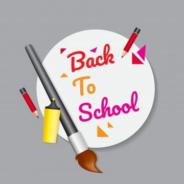 Back To School Poster Or Banner Design Png Announcement Back To School Png And Vector With Transparent Background For Free Download In 2020