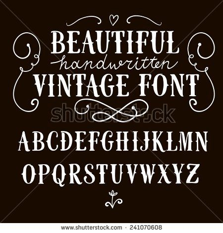 Hand Drawn Vintage Vector Abc Letters Nice Font For Your Design Abc Letters How To Draw Hands Abc