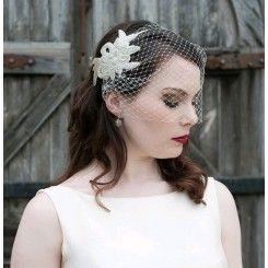 hårbøjle med slør