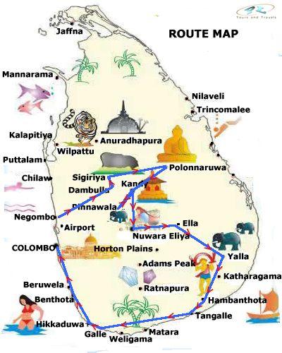 Pinnawala Carte Sri Lanka.Sri Lanka 7 Day Tours Tour 1 Negombo Dambulla Sigiriya