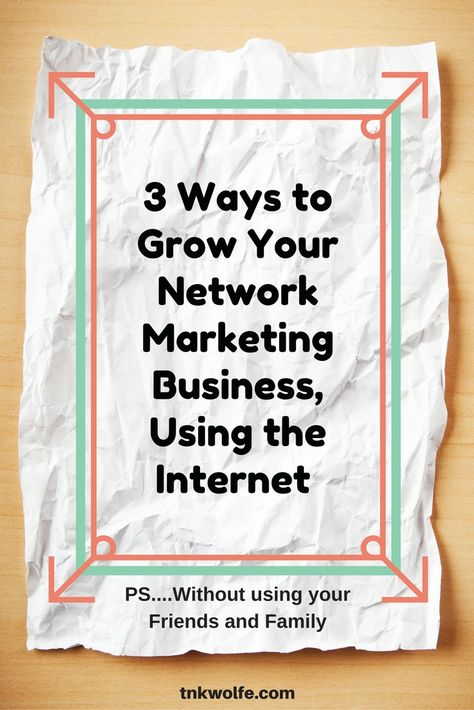 Learn how to increase your downline by using the internet.  You don't have to rely on your friends and family to build your Network Marketing business.
