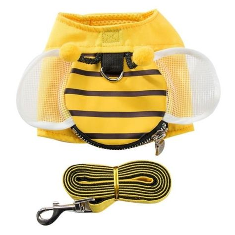 Bee Costume-Harness - Mesh wings / M / Harness and Leash