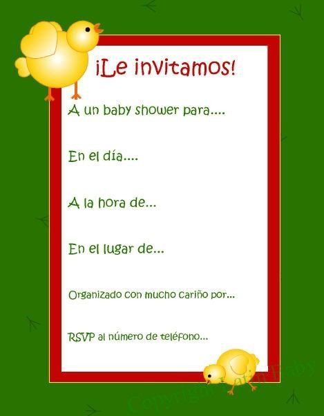Baby Shower Invitations In Spanish : shower, invitations, spanish, Shower, Invitations, Spanish, Invitations,, Invitation, Wording,