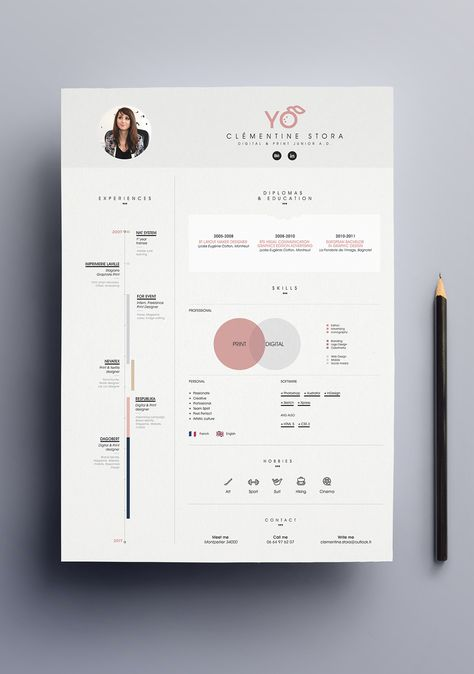 Simple Resume Template vol6 u2026 Pinteresu2026 - simple resume design