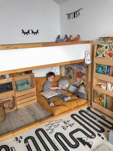 Toddler Boy Room Decor, Boys Bedroom Decor, Ikea Toddler Room, Big Boy Bedroom Ideas, Toddler Boy Beds, Toddler Bedding Boy, Toddler Boy Bedrooms, Boys Playroom Ideas, Montessori Toddler Bedroom