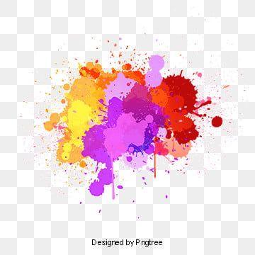 Beautiful Colorful Splash Creative Decorative Buckle Free Color