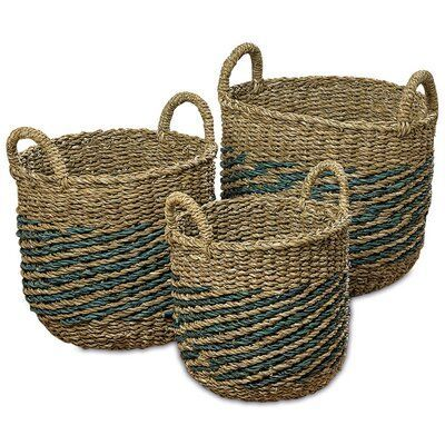 Highland Dunes Nature Seagrass 3 Piece Wicker Basket Set Eyes Eyemakeup Eyeshadow Eyeliner Wingedeyeliner Eyebrows Brows Browsonfleek Eyebrowgoals Eyel