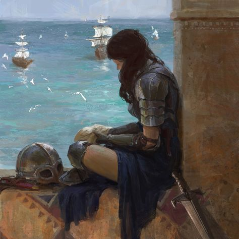 - I fantasy art - Title: Map Artist: Song Yueran songyueran. Fantasy Girl, High Fantasy, Medieval Fantasy, Fantasy Art Warrior, Fantasy Art Women, Medieval Combat, Character Inspiration, Character Art, Character Design
