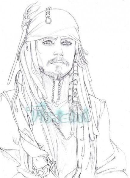 Dibujos De Jack Sparrow Para Colorear Art Drawings Humanoid Sketch