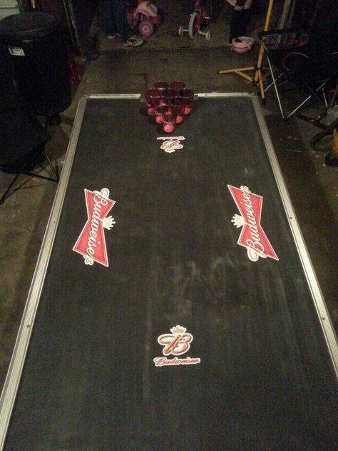 Diy Beer Pong Table Out Of An Old Air Hockey Table Diy