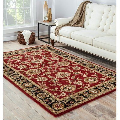 Birch Lane Heritage Oriental Hand Tufted Wool Red Gold Tan Area