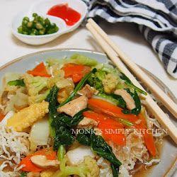 Bihun Siram Sayuran Makan Malam Resep Masakan Makanan Dan Minuman